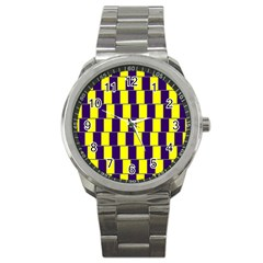Preview Wallpaper Optical Illusion Stripes Lines Rectangle Sport Metal Watch by Jojostore