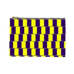 Preview Wallpaper Optical Illusion Stripes Lines Rectangle Cosmetic Bag (large)  by Jojostore
