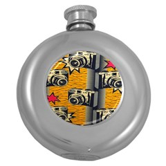 Photo Camera Round Hip Flask (5 Oz)