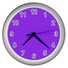 Purple Color Wall Clocks (silver)  by Jojostore