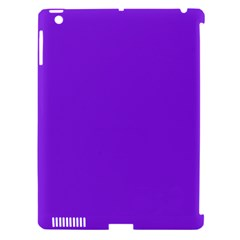 Purple Color Apple Ipad 3/4 Hardshell Case (compatible With Smart Cover)