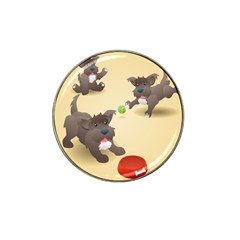 Puppy Dog Hat Clip Ball Marker (4 Pack)