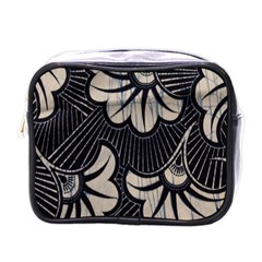 Printed Fan Fabric Mini Toiletries Bags