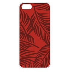 Red Palm Apple Iphone 5 Seamless Case (white) by Jojostore