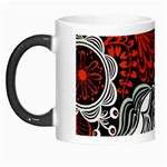 Red Batik Flower Morph Mugs Left