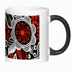 Red Batik Flower Morph Mugs Right