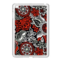 Red Batik Flower Apple Ipad Mini Case (white) by Jojostore