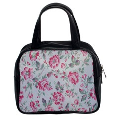 Rose Red Flower Classic Handbags (2 Sides)