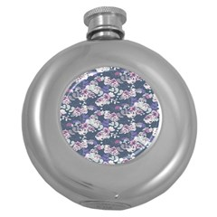 Simple Flower Round Hip Flask (5 Oz)