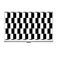 Wallpaper Line Black White Motion Optical Illusion Business Card Holders by Jojostore