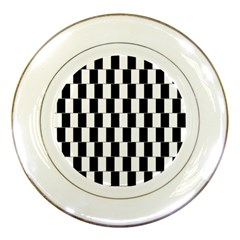 Wallpaper Line Black White Motion Optical Illusion Porcelain Plates