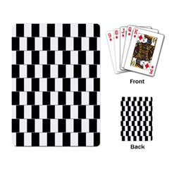 Wallpaper Line Black White Motion Optical Illusion Playing Card by Jojostore