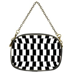 Wallpaper Line Black White Motion Optical Illusion Chain Purses (one Side)  by Jojostore