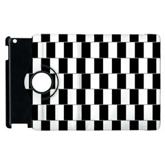 Wallpaper Line Black White Motion Optical Illusion Apple Ipad 2 Flip 360 Case by Jojostore