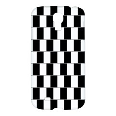 Wallpaper Line Black White Motion Optical Illusion Samsung Galaxy S4 I9500/i9505 Hardshell Case
