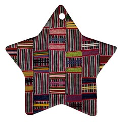 Strip Woven Cloth Color Ornament (star) by Jojostore
