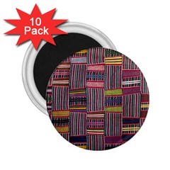 Strip Woven Cloth Color 2 25  Magnets (10 Pack)  by Jojostore