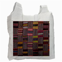 Strip Woven Cloth Color Recycle Bag (one Side) by Jojostore