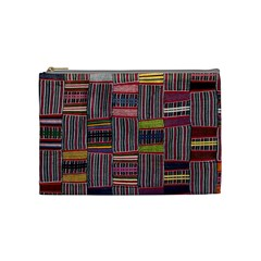 Strip Woven Cloth Color Cosmetic Bag (medium)  by Jojostore