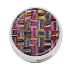 Strip Woven Cloth Color 4 Port Usb Hub (two Sides)  by Jojostore
