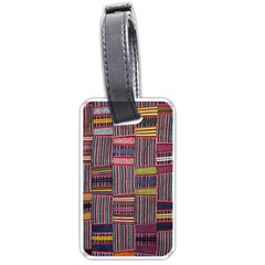 Strip Woven Cloth Color Luggage Tags (one Side)  by Jojostore