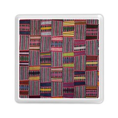 Strip Woven Cloth Color Memory Card Reader (square)  by Jojostore
