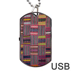 Strip Woven Cloth Color Dog Tag Usb Flash (one Side) by Jojostore