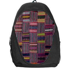 Strip Woven Cloth Color Backpack Bag by Jojostore