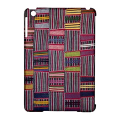 Strip Woven Cloth Color Apple Ipad Mini Hardshell Case (compatible With Smart Cover) by Jojostore