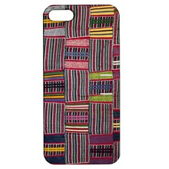 Strip Woven Cloth Color Apple Iphone 5 Hardshell Case With Stand by Jojostore