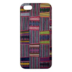 Strip Woven Cloth Color Apple Iphone 5 Premium Hardshell Case by Jojostore