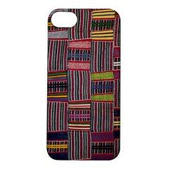 Strip Woven Cloth Color Apple Iphone 5s/ Se Hardshell Case by Jojostore