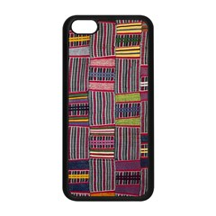 Strip Woven Cloth Color Apple Iphone 5c Seamless Case (black) by Jojostore