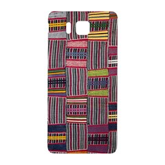 Strip Woven Cloth Color Samsung Galaxy Alpha Hardshell Back Case by Jojostore