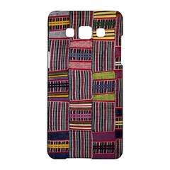 Strip Woven Cloth Color Samsung Galaxy A5 Hardshell Case  by Jojostore