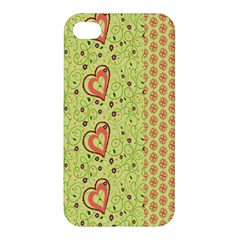 Organic Geometric Design Love Flower Apple Iphone 4/4s Premium Hardshell Case by Jojostore