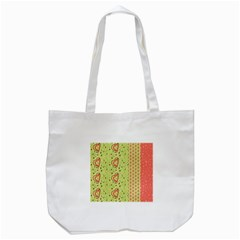 Organic Geometric Design Love Flower Tote Bag (white) by Jojostore