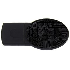 Wallpapers Stereogram Texture Pack Usb Flash Drive Oval (2 Gb)