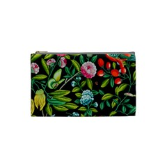 Tropical And Tropical Leaves Bird Cosmetic Bag (small)  by Jojostore