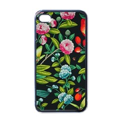 Tropical And Tropical Leaves Bird Apple Iphone 4 Case (black) by Jojostore