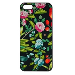 Tropical And Tropical Leaves Bird Apple Iphone 5 Seamless Case (black) by Jojostore