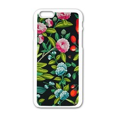 Tropical And Tropical Leaves Bird Apple Iphone 6/6s White Enamel Case by Jojostore