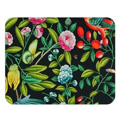 Tropical And Tropical Leaves Bird Double Sided Flano Blanket (large)