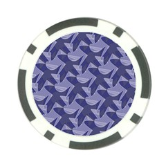 Incid Mono Geometric Shapes Project Blue Poker Chip Card Guard