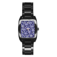 Incid Mono Geometric Shapes Project Blue Stainless Steel Barrel Watch
