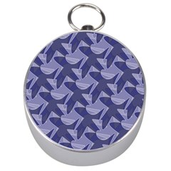 Incid Mono Geometric Shapes Project Blue Silver Compasses by Jojostore