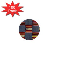 Strip Woven Cloth 1  Mini Magnets (100 Pack)  by Jojostore