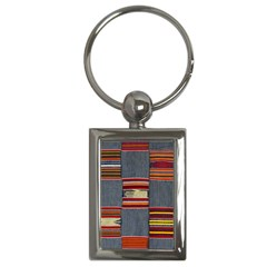 Strip Woven Cloth Key Chains (rectangle)  by Jojostore