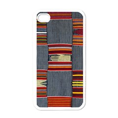 Strip Woven Cloth Apple Iphone 4 Case (white) by Jojostore