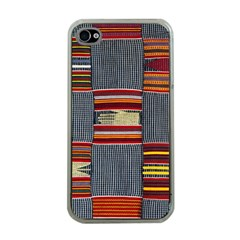 Strip Woven Cloth Apple Iphone 4 Case (clear) by Jojostore
